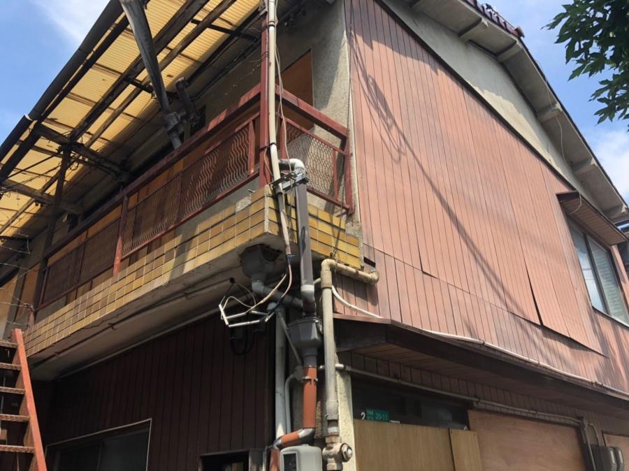 文化住宅台風被害