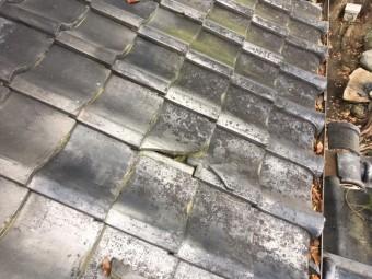 屋根瓦差し替え・漆喰 楽音寺