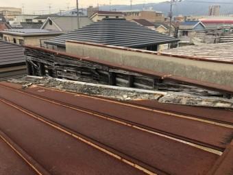 屋根モルタル剥離
