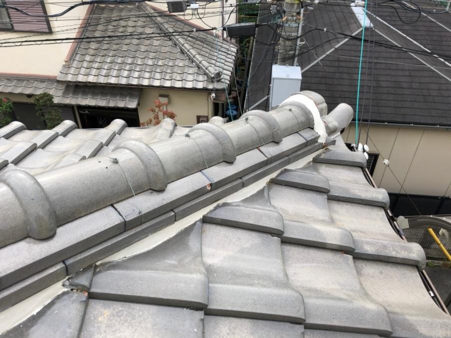 八尾市 屋根 漆喰
