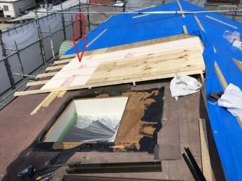 八尾 屋根工事中