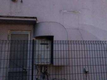 外壁膨らんでいる