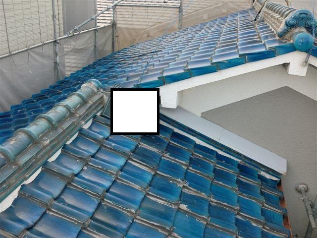 耐震工事屋根葺き替え前
