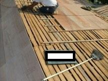 屋根胴縁及びコンパネ貼り