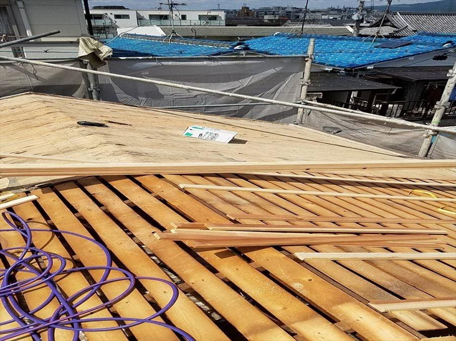 八尾市 葺き替え工事 胴縁