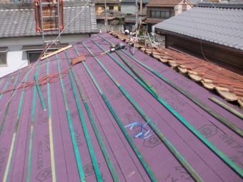 八尾市で屋根葺き替え工事