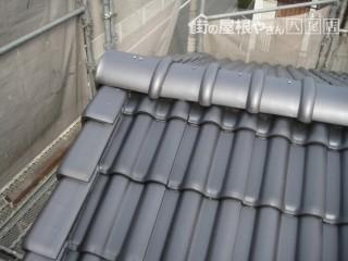 屋根工事完了 軽量陶器瓦
