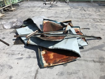 残骸の写真