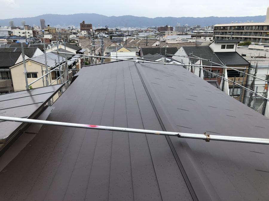屋根完工 ガルバリウム