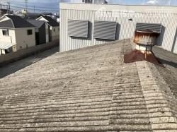 工事前のスレート屋根
