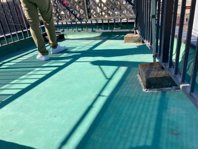 八尾市で屋上シート防水の現場調査にお伺いしました
