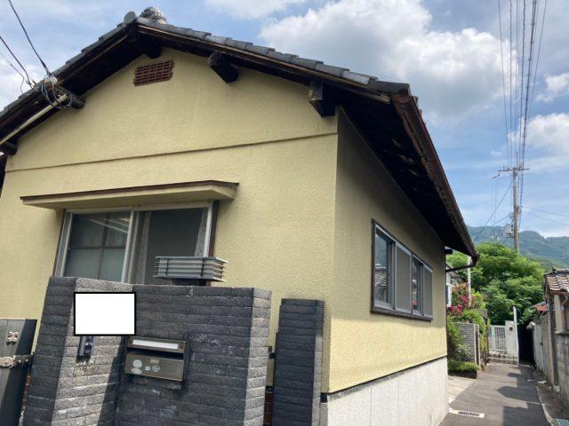八尾市の平屋で雨漏りしたので屋根の点検調査にお伺いしました