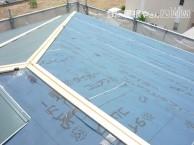 屋根ルーフィング貼り完了後