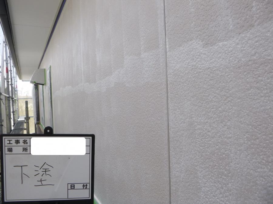 八尾市外壁塗装下塗り後