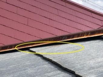 屋根にサビが移った