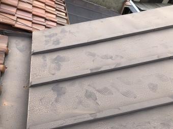 5年経った瓦棒の屋根