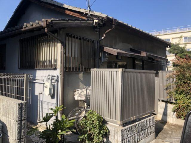 東大阪市で板金工事樋交換の現場調査
