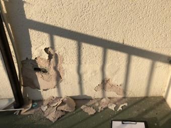 外壁が剥がれた