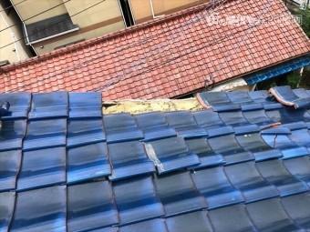 八尾市瓦屋根