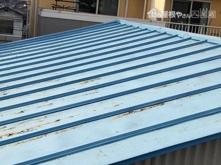 板金塗装依頼屋根の様子