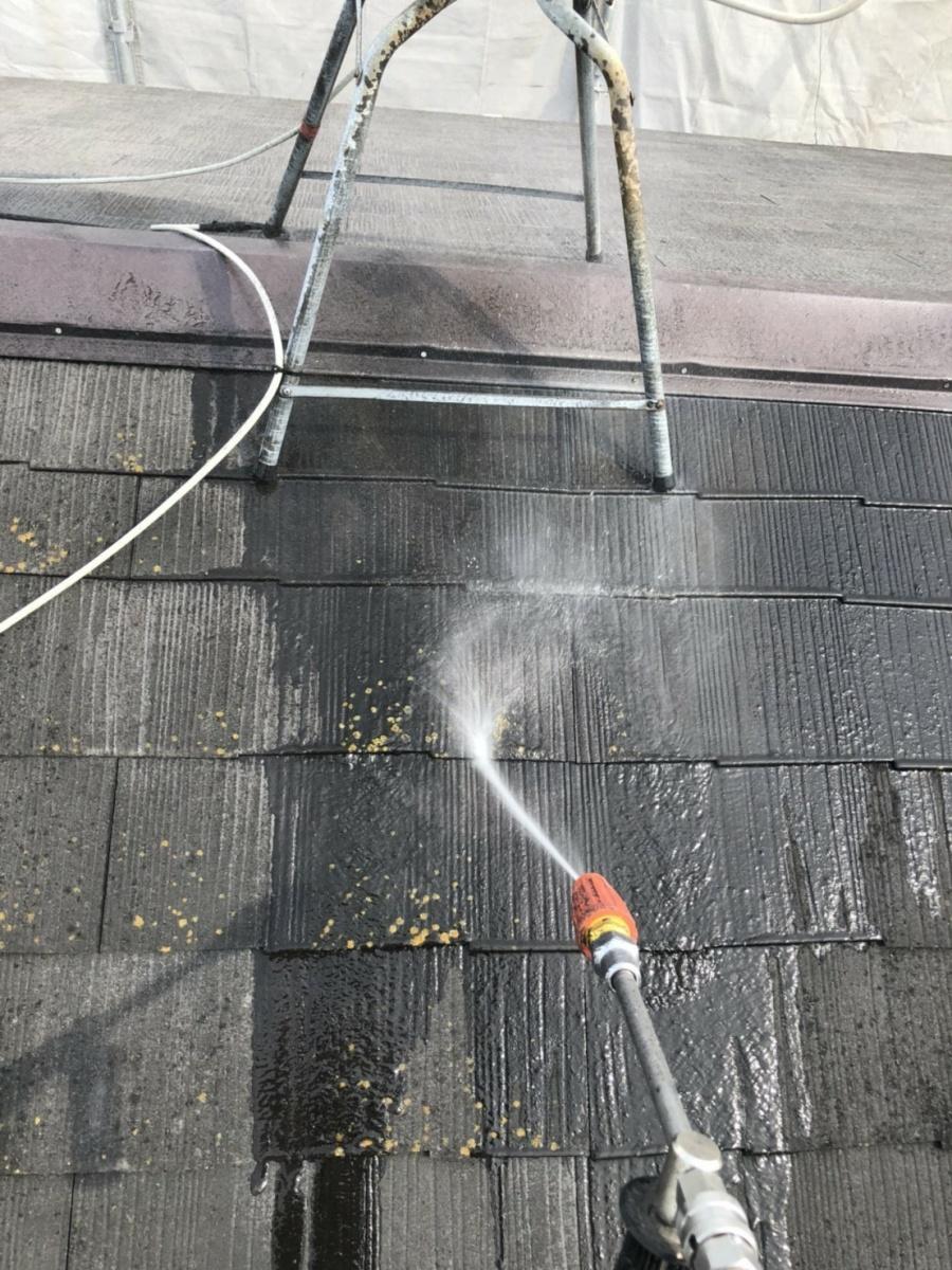 八尾市 屋根 高圧洗浄