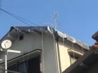 台風で瓦が飛んだ