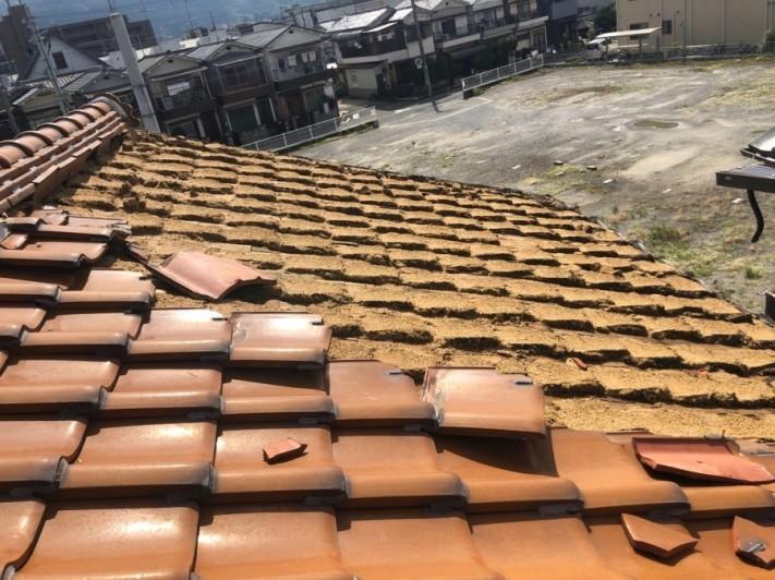 八尾市 屋根が台風で飛んだ