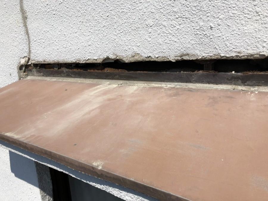 庇周りの外壁解体