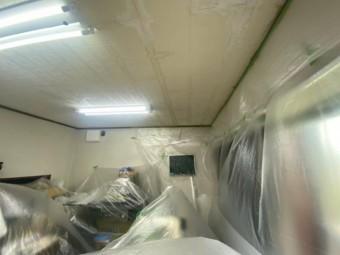 天井塗装準備