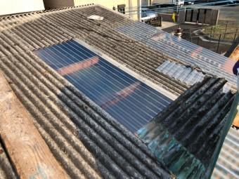 工場の屋根補修