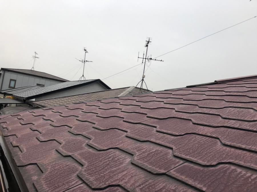 屋根の色褪せ