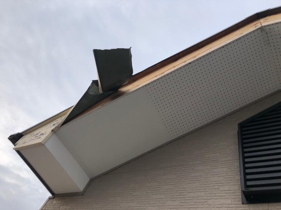 平野区在住の修理依頼部分の破風板