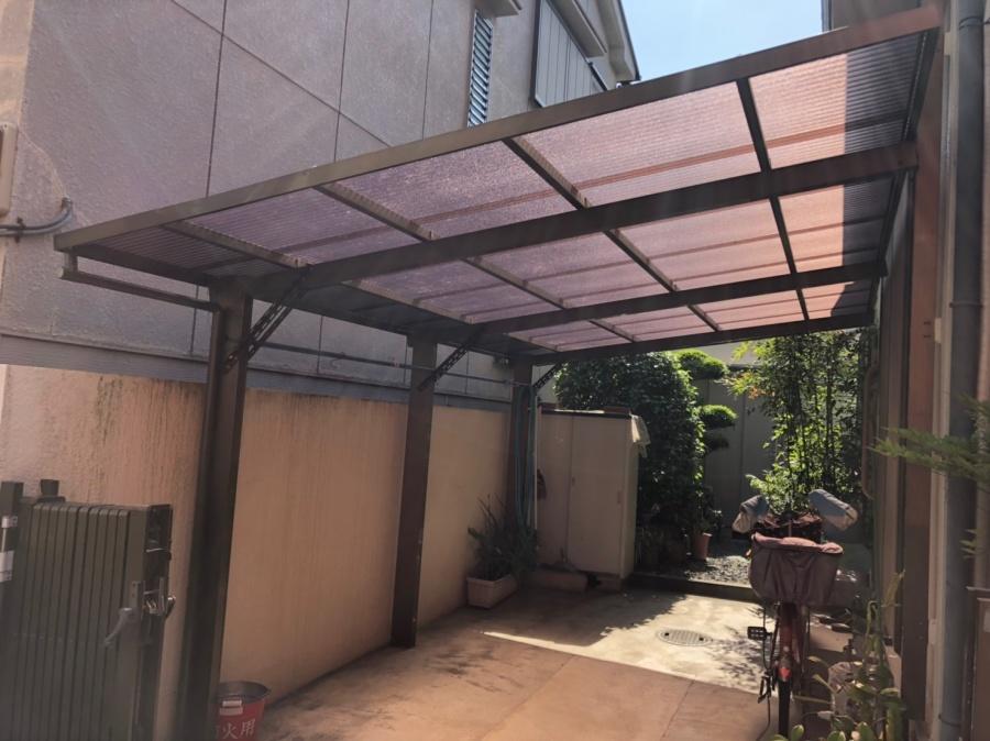 ガレージの屋根・樋工事
